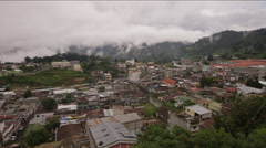 View of townscape in countryside, Guatemala - stock footage