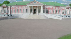 Aerial shot of architecture museum and park Tsaritsyno, Moscow Stock Footage