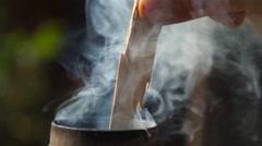 Boiling russian samovar Stock Footage