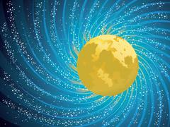 Abstract night sky Stock Illustration