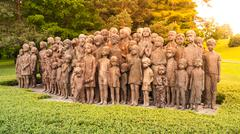 The Childrens War Victims Monument in Lidice - stock photo