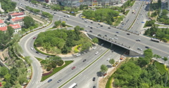 4k Time lapse busy urban traffic on overpass,urban morden building,china. Stock Footage