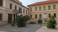 Town hall of Cassolnovo, PV, Italy Stock Footage