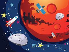 Mars Planet Piirros