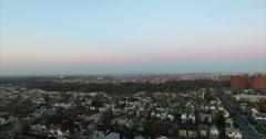 Aerial of Buildings in Newark New Jersey East Orange Stock Footage