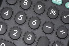 Calculator buttons Stock Photos