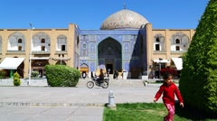 In iran   the old square of minaret Stock Footage