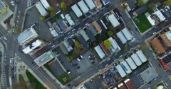 Aerial of Traffic & Buildings in Newark New Jersey East Orange Stock Footage