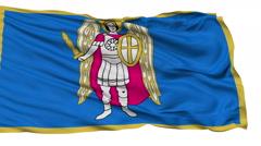 Kiev City Isolated Waving Flag - stock footage