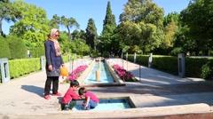 In iran antique garden Stock Footage