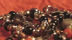 A variety of jewelry Stock Footage