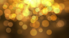 Beautiful Golden Orange Bokeh Glowing Particles Motion Background Full HD Stock Footage