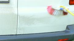Man washing the car Stock Footage