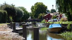 Sweden Village, scenic small town in Sweden - Trosa - in the summer Stock Footage