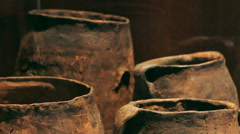 Roman pottery museum. Stock Footage