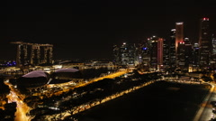 Timelapse Singapore Bay / Marina Bay at night. Stock Footage