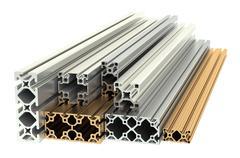 Aluminum profiles and copper profiles Stock Illustration