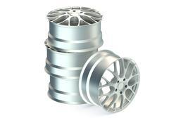 Car alloy tyre rims Stock Illustration