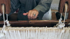 Portuguese traditional handicraft weavers. Stock Footage