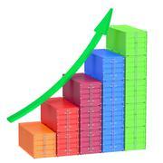 Freight growth chart Stock Illustration