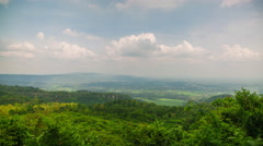 View from Candi Ijo - Indonesia Stock Footage