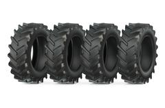 Group of tractor tires Stock Illustration