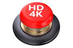 HD 4K Red button Stock Illustration