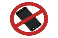 No cell phone sign Stock Illustration