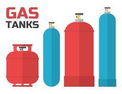 Gas tanks set. Stock Illustration