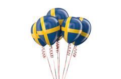 Sweden patriotic balloons,  holyday concept Stock Illustration