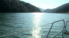 Sailing boat shot in Douro river. Stock Footage