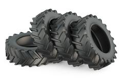 Tractor tires Stock Illustration