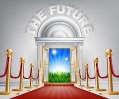 Positive Future concept Stock Illustration