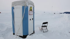 Toilet at the North Pole in Arctic. Stock Footage