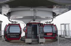 cabin lift on mountain - stock photo