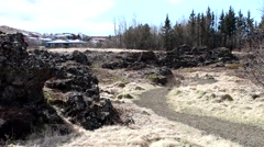 ICELAND, Lava within Hafnarfjordur Stock Footage