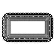 Rectangular Decorative Frame Isolated - stock illustration