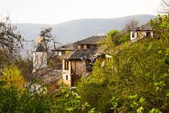 View of the historical village of Leshten, Bulgaria - stock photo