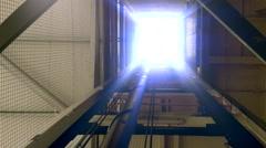 Cargo elevator. Stock Footage