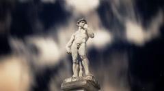 Statue greek athlete starscape timelapse Stock Footage