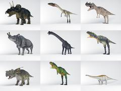Dinosaur collection part one Stock Illustration
