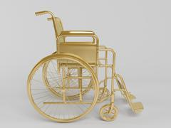 golden 3d object isolated on white - stock illustration