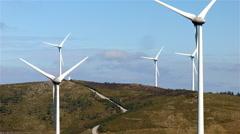Renewable energy in Portugal: wind energy. - stock footage