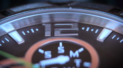 Hand watch macro footage Stock Footage