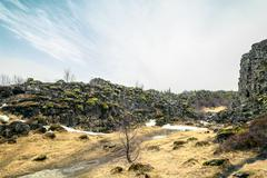 Iceland nature in an amazing scenery - stock photo