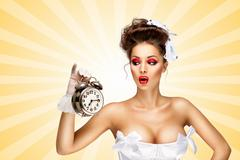Ringing clock. - stock photo