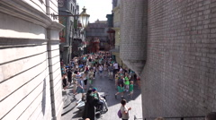 Harry Potter Diagon Alley Universal Studios Florida Stock Footage