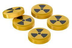 Anti-Radiation Tabletss Stock Illustration