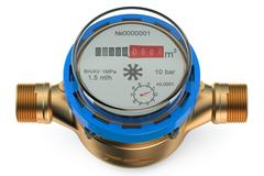 Cold water meter Stock Illustration