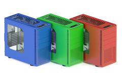 Colored tower pc cases Stock Illustration